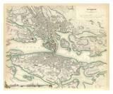 Stockholm, Sverige, ca. 1838 Posters