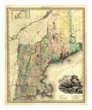 Maine, New Hampshire, Vermont, Massachusetts, Connecticut and Rhode Island, c.1823 Prints by Henry S. Tanner