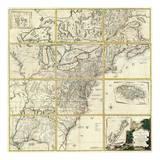 Composite: Colonie Unite dell' America Settentrle, c.1778 Posters by Antonio Zatta