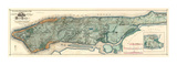 Sanitary and Topographical Map of the City and Island of New York, c.1865 Kunstdrucke von Egbert L. Viele