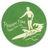 Pleasure Point Surfer Wood Sign