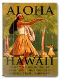 アロハ・ハワイ 木製看板