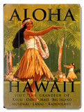 Aloha Hawaii Wood Sign