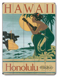 Honolulu Hawaii Wood Sign