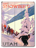 Visit Snowbird Wood Sign