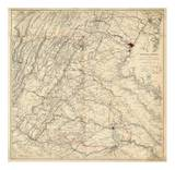 Civil War Map Showing Grant's Campaign and Marches through Central Virginia, c.1865 Posters