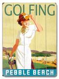Golfing Wood Sign