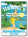 Merrie Monarch Festival Wood Sign