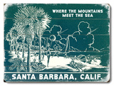 Where the Mountains meet the Sea Wood Sign