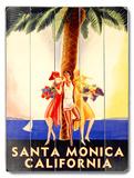 Santa Monica California Wood Sign