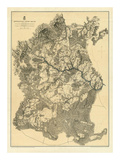 Civil War Map: Appomattox Court House, c.1869 Prints