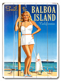 Sail to Balboa Island Wood Sign