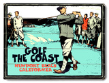 Golf the Coast Wood Sign