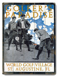 Golfer's Paradise Wood Sign