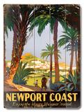 Newport Coast Wood Sign