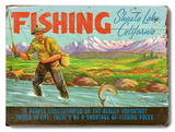 Fishing Shasta Lake Wood Sign