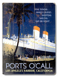 Ports O'call Wood Sign