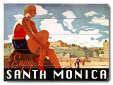 Visit Santa Monica Wood Sign