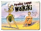 Paradise Lounge Wood Sign