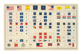 Civil War: Flags, Badges, c.1895 Posters