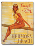 Beauty and the Beach Wood Sign