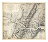Civil War Map of the Country Adjacent to Harper's Ferry, Virginia, c.1863 Posters by John E. Weyss