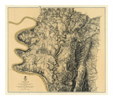 Civil War Map: Antietam, c.1869 Prints