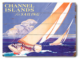 Channel Island Sailing Wood Sign