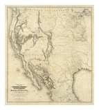 Map of the United States, c.1850 Art
