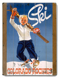Little Boy Ski Wood Sign