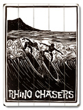 Rhino Chasers Wood Sign