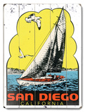 San Diego Sailing Wood Sign