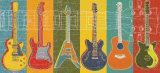 Guitarhelt Poster af Mj Lew