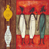 Three Housewifes Print by Jerome Obote