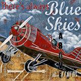 Blauer Himmel Kunstdrucke von Maria Donovan