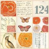 Poppy Vignette I Poster par Paula Scaletta