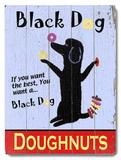 Black Dog Doughnuts Wood Sign