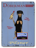 Doberman Pilsner Wood Sign