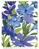 Periwinkle Border Beauty Print by Martha Collins