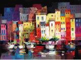 Seaport Town I Kunst av Willem Haenraets