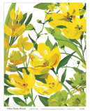 Yellow Border Beauty Prints by Martha Collins