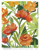 Orange Border Beauty Prints by Martha Collins