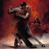 Argentinischer Tango II Kunstdruck von Willem Haenraets