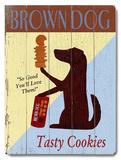 Brown Dog Tasty Cookies Wood Sign