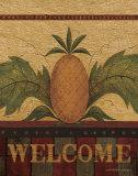 Welcome Pineapple Kunst van Warren Kimble