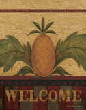 Welcome Pineapple Póster por Warren Kimble