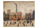 Hjem fra fabrikken Giclee-tryk i høj kvalitet af Laurence Stephen Lowry