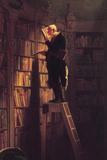 Carl Spitzweg - The Bookworm - Birinci Sınıf Giclee Baskı