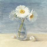 Daisies and Shells Posters par Danhui Nai