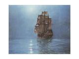 Luna crescente Stampa giclée di Montague Dawson